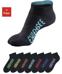 Sportive Füßlinge (7 Paar) mit farbigen Logos Chiemsee schwarz 31-34,35-38,39-42