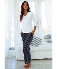 H.I.S Pyjama im Nadelstreifendesign mit schlichtem Shirt weiß 32/34,36/38,40/42,44/46
