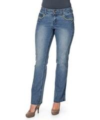 SHEEGO DENIM Damen Denim Bootcut Stretch-Jeans Maila blau 40,42,44,46,48,50,52,54,56,58