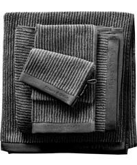 Badetuch Home Tone Stripe Timeless mit Logostickerei MARC O'POLO HOME grau 1xBadetuch 70x140 cm