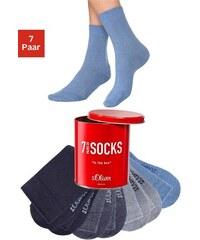 S.OLIVER RED LABEL Freizeit- und Businesssocken (7 Paar) in der Box blau 31-34,35-38,39-42,43-46,47-48