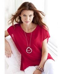 Ambria Damen Longshirt rot 36,38,40,42,44,46,48,50,52