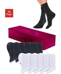 Socken in der Big-Box (10 Paar) mit druckfreiem Bündchen Baur bunt 35-38,39-42