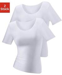 T-Shirt aus Baumwolle im 1er oder im 2er Pack Lascana weiß 32/34,36/38,44/46,48/50