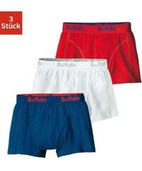 Boxer (3 Stück) coole Farben mit Webbund Buffalo bunt 128,152,164,176