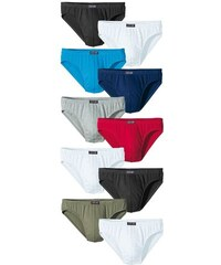 H.I.S Basic Slips (10 Stück) Cotton made in Africa bunt 3,4,5,6,7,8,9,10