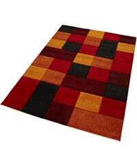Teppich Merinos DRONNE handgearbeiteter Konturenschnitt gewebt MERINOS rot 2 (B/L: 80x150 cm),3 (B/L: 120x170 cm),4 (B/L: 160x230 cm),6 (B/L: 200x290 cm)
