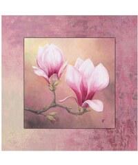Artland Wandbild mit Designer-Rahmen ,4 x 50,4 cm rosa 50