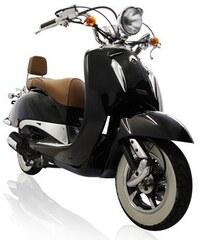 MOTOWORX Motorroller Titano 125 ccm 85 km/h 8,57 PS mit Rollergarage schwarz