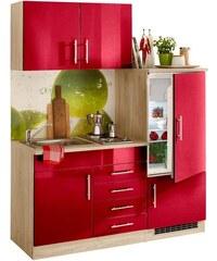 Single-Küche Toledo Breite 160 cm Baur rot
