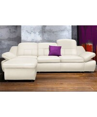 Polsterecke City Sofa wahlweise mit Bettfunktion CITY SOFA 200 (=altweiß),201 (=creme),205 (=braun)