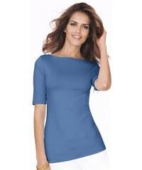 LADY Damen Lady Shirt mit U-Boot-Ausschnitt blau 36,38,40,42,44,46,48,50,52,54