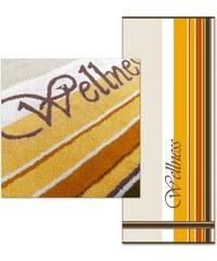Dyckhoff Saunatuch Wellness unterschiedliche Streifen gelb 1xSaunatuch 80x200 cm