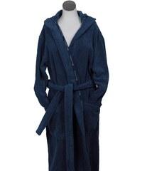 Unisex-Bademantel Home Classic Hood Borte mit Markenlogo MARC O'POLO HOME blau L,M,S,XL,XXL