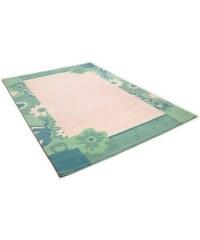 Teppich Hawai 6836 handgearbeitet Wolle THEKO grün 3 (B/L: 140x200 cm),4 (B/L: 160x230 cm)