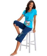 PEANUTS PEANUTS Legerer Capripyjama mit verspieltem Snoopyprint blau 32/34,36/38,40/42,44/46