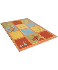 Teppich Lustige Haustiere handgearbeitet THEKO orange 2 (B/L: 100x160 cm),3 (B/L: 120x180 cm)