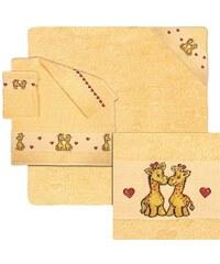 Dyckhoff Handtuch Set Bobo mit Giraffen und Herzen gelb 4tlg.-Set (siehe Artikeltext)