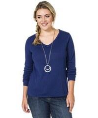Damen Casual V-Pullover als unverzichtbares Basic SHEEGO CASUAL blau 40/42,44/46,48/50,52/54,56/58