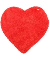 Tom Tailor Kinder-Teppich Soft Herz Hochflor Höhe 30 mm handgearbeitet rot 5 (B/L: 100x100 cm)