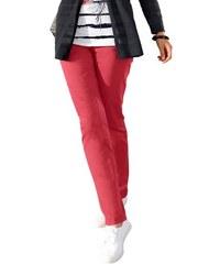Damen Création L Hose mit Gürtelschlaufen sowie Knopf- und Reißverschluss vorne CRÉATION L rot 36,38,40,42,44,46,48,50,52
