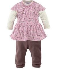 Klitzeklein Kleid & Leggings im Lagenlook (Set 2-tlg.) für Babys KLITZEKLEIN rosa 62,68,74,80,86