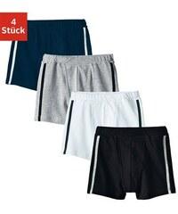 Authentic Underwear Boxer (4 Stück) cooler Basic-Style mit seitlichen Streifen Authentic Underwear Le Jogger bunt 104,116,128,140,152,164,176,182