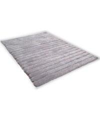 Hochflor-Teppich Soft Hidden Stripes Höhe ca. 35mm handgetuftet Hoch-Tief-Effekt Tom Tailor grau 2 (B/L: 65x135 cm),3 (B/L: 140x200 cm),4 (B/L: 160x230 cm)