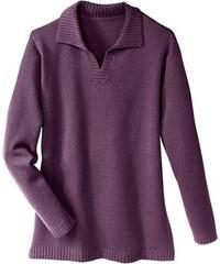 Damen Classic Basic Pullover CLASSIC BASIC lila 38,40,42,44,46,48,50,52,54,56