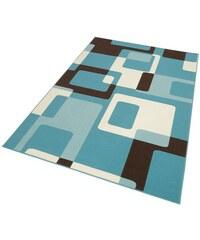 Teppich Tiznit Retro Design abstrakt gewebt HANSE HOME blau 2 (B/L: 80x150 cm),3 (B/L: 120x170 cm),4 (B/L: 160x230 cm),6 (B/L: 200x290 cm)