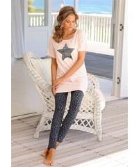 Pyjama mit Leoleggings & Longshirt mit Sternprint Buffalo orange 32/34,36/38,40/42,44/46,48/50,52/54,56/58