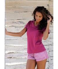 Shorty mit Shorts im Vichykaro & Basic T-Shirt H.I.S rot 32/34,36/38,40/42,44/46