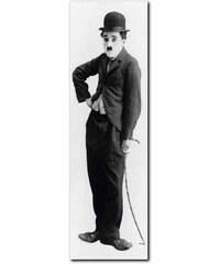 PREMIUM PICTURE XXL-Wandbild Charlie Chaplin Tramp schwarz 52 x 150 cm