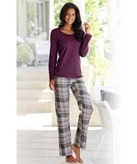 Lascana Modischer Pyjama kuschelig weiche Flanellqualität in klassischem Karo-Design rot 32,34,36,38,40,42,44,46