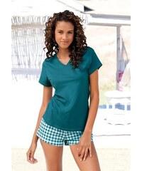 Shorty mit Shorts im Vichykaro & Basic T-Shirt H.I.S grün 32/34,36/38,40/42,44/46