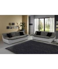 Set: 2-Sitzer + 3-Sitzer Baur grau grau/weiß