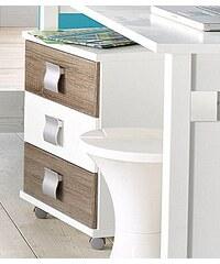 wimex Rollcontainer weiß/struktureichefarben dunkel