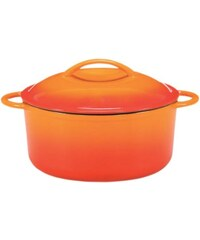 Fleischtopf aus Gusseisen mit Deckel Cuisine KRÜGER orange