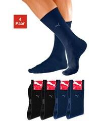 Puma Basic-Socken (4 Paar) mit druckfreiem Komfortbund Farb-Set 39-42,43-46