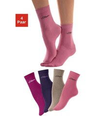 RED LABEL Bodywear Basic-Socken (4 Paar) Made in Germany S.OLIVER RED LABEL Farb-Set 27-30,31-34,35-38,39-42