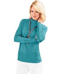 CLASSIC INSPIRATIONEN Damen Classic Inspirationen Pullover mit höherem Rippbund an Saum blau 36,38,40,42,44,46,48,50,52,54