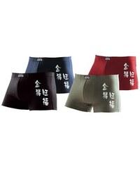 Authentic Underwear Le Jogger Authentic Underwear Boxer (4 Stück) mit chinesischen Schriftzeichen bequemer Baumwoll-Stretch bunt 3,4,5,6,7,8