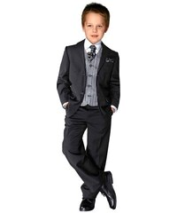 Anzug (Set 5 tlg. mit Weste mit Plastron und Einstecktuch) Studio Coletti schwarz 110,116,122,128,134,140,146,152,158,164