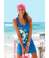 Venice Beach Damen Longtop mit Logo-Druck blau 32/34,36/38,40/42,44/46