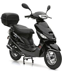 NOVA MOTORS SET: Motorroller inkl. Topcase 49-ccm 45 km/h Eco Fox schwarz