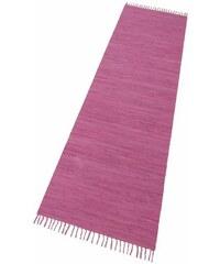 Läufer Happy Cotton Fleckerl Melange-Effekt handgewebt reine Baumwolle THEKO rot 12 (B/L: 70x250 cm)
