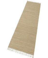 Läufer Happy Cotton Fleckerl Melange-Effekt handgewebt reine Baumwolle THEKO natur 12 (B/L: 70x250 cm)
