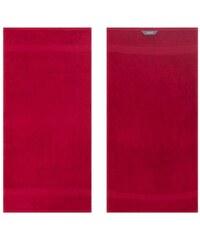 Egeria Handtücher Diamant in Uni gehalten rot 2xHandtücher 50x100 cm