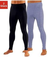 Lange Unterhose (2 Stück) Leggings aus weichem Single Jersey Clipper bunt 4,5,6,7,8,9
