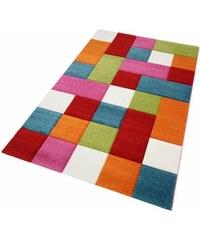 Teppich Merinos GENIL handgearbeiteter Konturenschnitt gewebt MERINOS bunt 2 (B/L: 80x150 cm),3 (B/L: 120x170 cm),4 (B/L: 160x230 cm),6 (B/L: 200x290 cm)